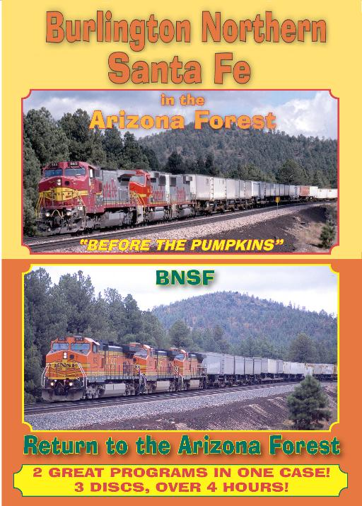 BNSF in the Arizona Forest 2 shows  3 Disc set DVD