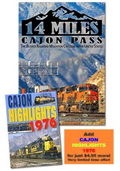 Combo SET 14 Miles - Cajon Pass: The Busiest Railroad Mountain Crossing in the United States DVD